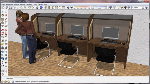 Internet-Cafe-Möbel
