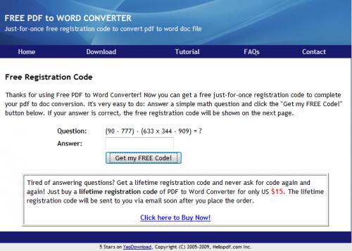 Muster-Rechenaufgabe für kostenlosen Freischaltcode