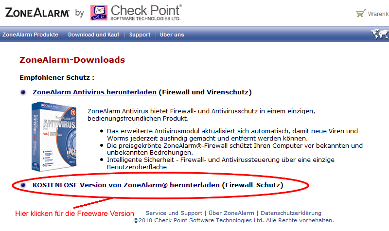 zonealarm firewall die win 7 freeware version deutsch jetzt online m. Black Bedroom Furniture Sets. Home Design Ideas