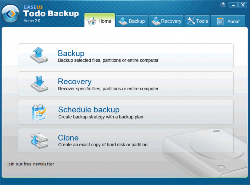 Todo Backup 2 Startfenster