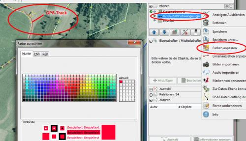 JOSM GPS-Daten