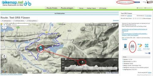 OSR-Bikemap Beispiel Karte