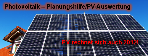 photovoltaik planungshilfe pv auswertung m. Black Bedroom Furniture Sets. Home Design Ideas