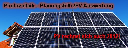 photovoltaik planungshilfe pv auswertung m. Black Bedroom Furniture Sets. Home Design Ideas