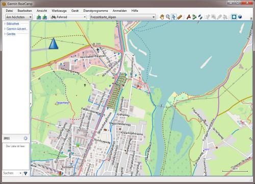 BaceCamp mit freier Karte