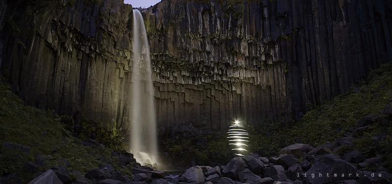 Svartifoss (Black Fall) Wasserfall im Skaftafell National Park, Island - © www.lightmark.de